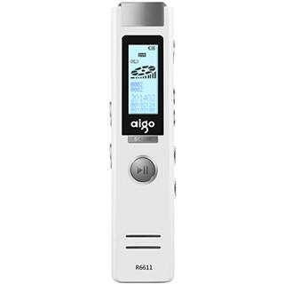 万博网页版万博manbetx体育爱国者(aigo) R6611录音笔专业微型 高清远距降噪 MP3播放器 学习/会议适用 8G 白色 manbetx万博体育平台批发